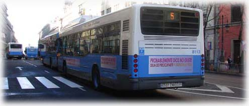 Bus Ateo en Madrid